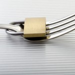 iStock_000015812154XSmall eating disorders fork with a lock