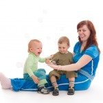 shutterstock_14786077 mother playing with two young children