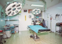 An operating theatre.
