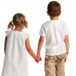 autism children holding hands