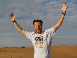 Dr Andrew Murray finishing in the Sahara