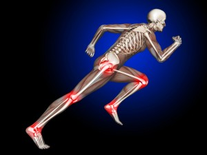 xray of runner with joint pain