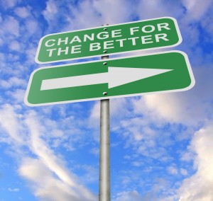 signs pointing to change