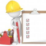 man with checklist