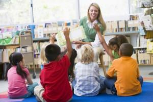 Teacher reading