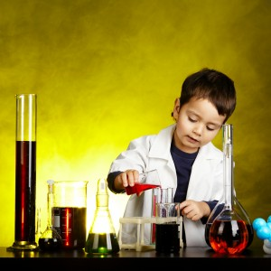 Scientist kid