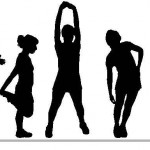 women exercise silhouettes 1