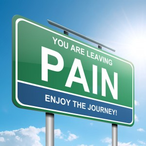 sign with you are leaving pain on it