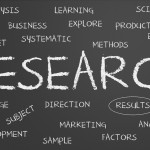 Research written on blackboard