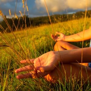 yoga grass