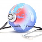 World and stethoscope