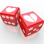 Dice with broken heart