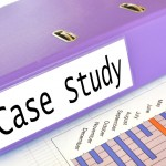 File with case study on it