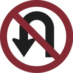 No U turn sign