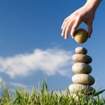 Pile of stones balanced