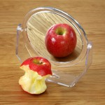 Bulimia concept - apple in mirror