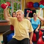 Elderly patients exercising