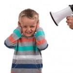 A child not listening
