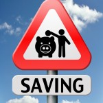 Signpost of piggy bank
