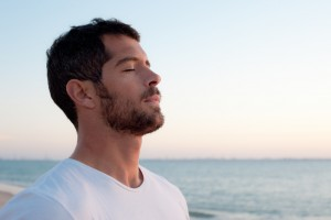 You don't have to be handsome and stood on a beach to benefit from mindfulness techniques