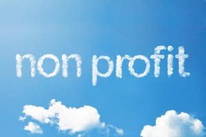 Non profit words and clouds
