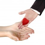 Hand sharing love
