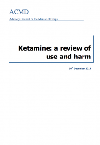 Ketamine has been in the news recently because the Advisory Council on the Misuse of Drugs have published a report entitled 'Ketamine: a review of use and harm'