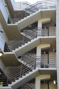 Several flights of stairs