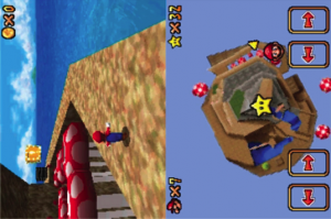 Figure 1: Mario's view from behind and the birds eye view