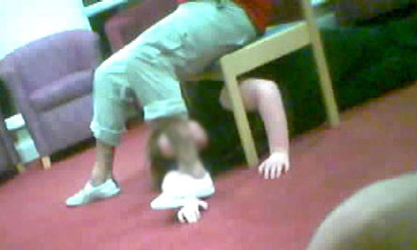 A handout photo, issued by the BBC, of a screen grab from the Panorama investigation into abuse at Winterbourne View. Photograph: BBC/PA