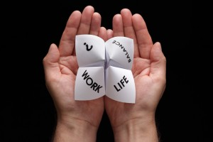 Hands holding a paper fortune-teller