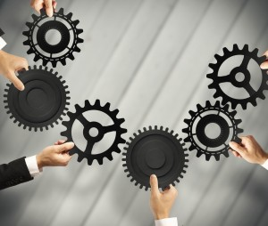 Different cogs working together