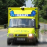 Ambulance on the move