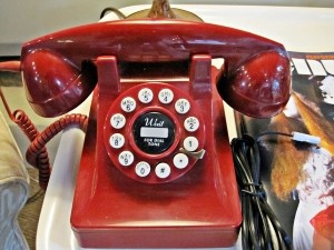 An old fashioned telephone