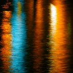Light refections on water