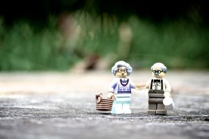 Lego figures of older people