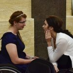 Carer with wheelchair user