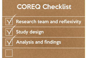 The COREQ checklist was developed to promote explicit and comprehensive reporting of qualitative studies (interviews and focus groups).