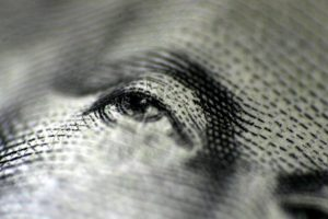 Eye on a dollar bill