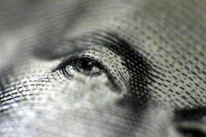 Eye on a dollar bill