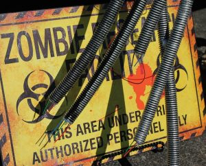 The 'Zombies, Run!' app motivates you to run while escaping a zombie apocalypse.