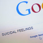 Suicidal Feelings Typed into search bar on Google homepage