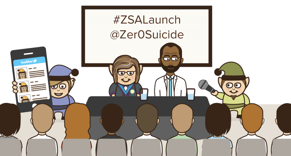 Join us on Twitter from 4-6pm. We're taking the #ZSALaunch Beyond The Room!