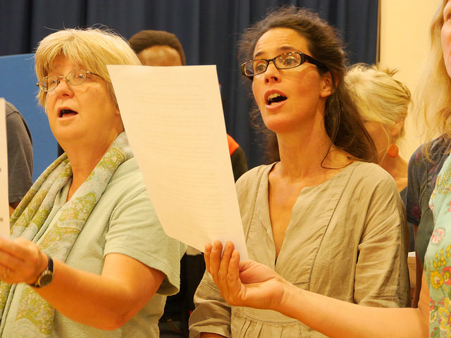 Group singing is fun, and good for our mental health.