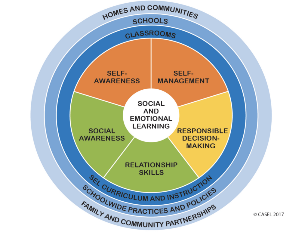 Social and emotional competence is typically presented as 5 core competencies, made up from inter- and intra-personal skills