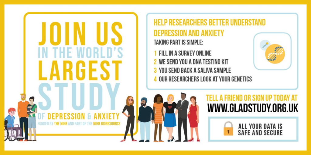 The GLAD study is recruiting now! Find out more atgladstudy.org.uk