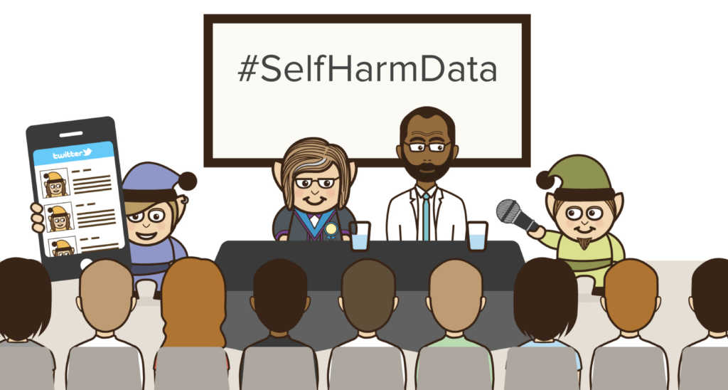 Follow #SelfHarmData on Twitter to join in with the conversations from the 'Using data to inform suicide and self-harm prevention' event in London.