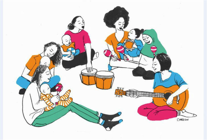'Melodies for Mums' illustration by Claire M (project participant), 2018