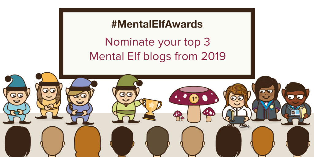 Make 3 little elves very happy by nominating them for the best blog of 2019 prize in our inaugural #MentalElfAwards