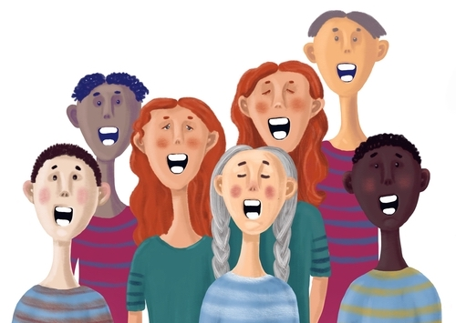 The present study joins a growing base of evidence finding positive effects of group singing on mental health and well-being.